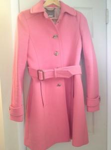 my pink winter coat